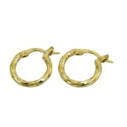Argola em Ouro Levemente Torcida - J19200005 - RDJ JÓIAS