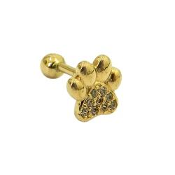 Piercing Orelha em Ouro 18k Tragus Patinha - J1950... - RDJ JÓIAS