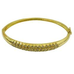 Pulseira Bracelete de Ouro 18k com Brilhantes - JB... - RDJ JÓIAS