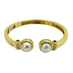 Bracelete de Ouro 18k com Pedras Naturais - JB0480... - RDJ JÓIAS