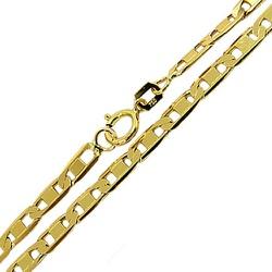 Cordão Piastrine de Ouro 18k 50cm 10,5g - JC000721... - RDJ JÓIAS