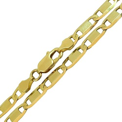 Corrente Piastrine Grossa em Ouro 18K 60cm - JC002... - RDJ JÓIAS