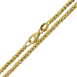 Corrente Bolinha de Ouro 18k Diamantada 80cm - JC0... - RDJ JÓIAS