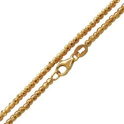 Cordão de Ouro 18k com Bolinhas diamantadas - JC00... - RDJ JÓIAS