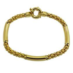 Pulseira Bracelete em Ouro 18k com fecho Boia - JP... - RDJ JÓIAS