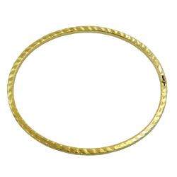Pulseira em ouro 18k bracelete frisado - JPB000625... - RDJ JÓIAS
