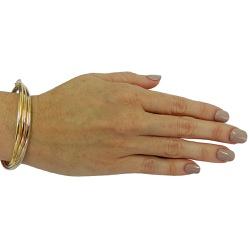Pulseira em Ouro 18k Bracelete Tricolor - JPB00084... - RDJ JÓIAS