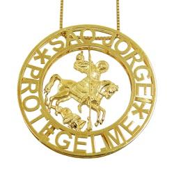 Mandala em ouro 18k Grande São Jorge - JPGR000327-... - RDJ JÓIAS