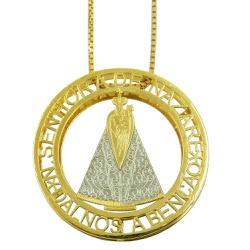 Pingente Mandala em ouro 18k N.Senhora de Nazaré -... - RDJ JÓIAS