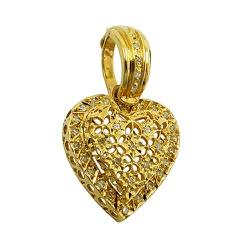 Pingente Coração em Ouro 18K com Brilhantes - JPGR... - RDJ JÓIAS