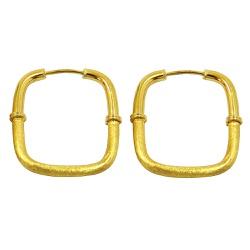 Argolas em Ouro 18k 0,750 Quadrada - JRD0180020 - RDJ JÓIAS