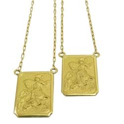 Escapulário de São Jorge em Ouro Grande - JSJ0120... - RDJ JÓIAS