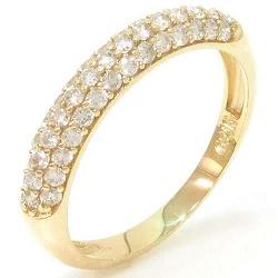 Anel de Ouro com Brilhantes - 0100562069 - RDJ JÓIAS