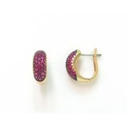 Brinco de Ouro com Rubi Pequeno - 0225774503 - RDJ JÓIAS