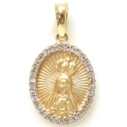 Pingente Nossa Senhora de Fatima com Brilhantes - ... - RDJ JÓIAS