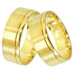 Par de Alianças de Casamento ou Noivado em Ouro 18... - RDJ JÓIAS