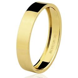 Aliança de Ouro 18k Retangular - 7500942000 - RDJ JÓIAS