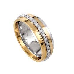 Alianças em ouro com Brilhantes - Cal1123 - RDJ JÓIAS