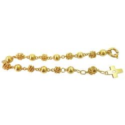Pulseira em ouro feminina Rosário - JP048006118 - RDJ JÓIAS