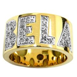 Anéis Largos em ouro manuscrito com brilhantes - J... - RDJ JÓIAS