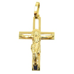 Crucifixo em Ouro vazado com Cristo - J03100894 - RDJ JÓIAS