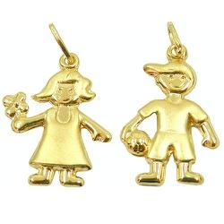 Pingente Menino de ouro - J03100700 - RDJ JÓIAS