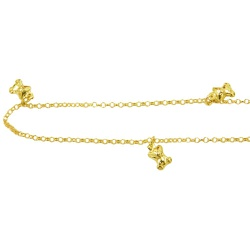 Tornozeleira de Ouro com Ursinhos - J05800078 - RDJ JÓIAS