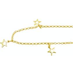 Tornozeleira de Ouro com Estrelas Vazadas - J05800... - RDJ JÓIAS