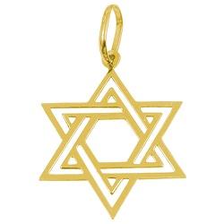 Estrela Davi em Ouro G - J03100495 - RDJ JÓIAS