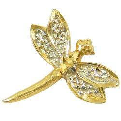 Pingente Libélula em Ouro - J12700391 - RDJ JÓIAS