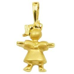 Pingente de ouro Menina Grande - J04000637 - RDJ JÓIAS