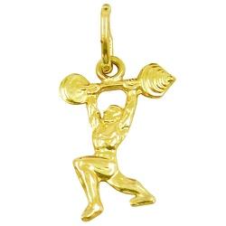 Pingente Masculino em Ouro Levantando Peso - J0120... - RDJ JÓIAS