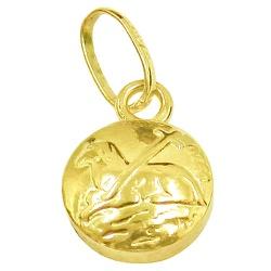 Pingente Agnus Dei em Ouro Amarelo - J03100479 - RDJ JÓIAS
