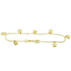 Pulseira em ouro 18k com borboletas Baby - J058001... - RDJ JÓIAS