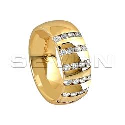 Par de Alianças Seven em Ouro 18K com Diamantes - ... - RDJ JÓIAS