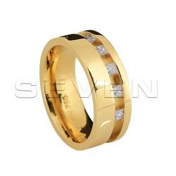Alianças de Bodas de Ouro com Diamantes - CES0005 - RDJ JÓIAS