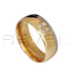 Aliança Boleada em Ouro 18K com Diamantes - CES001... - RDJ JÓIAS