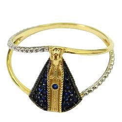 Anel de Ouro Nossa Senhora Aparecida - J05800169 - RDJ JÓIAS