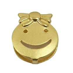 Pingente de Ouro Happy Face Menina - J03100379 - RDJ JÓIAS
