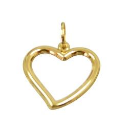 Pingente Feminino de Ouro 18K Coração - J03100743... - RDJ JÓIAS