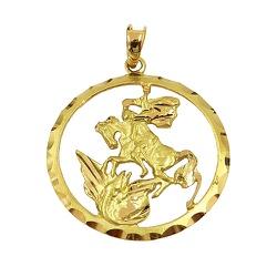 Medalha de São Jorge em Ouro 18K - J12701411 - RDJ JÓIAS