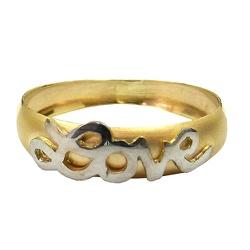 Anel em Ouro 18k Love - J10801554 - RDJ JÓIAS