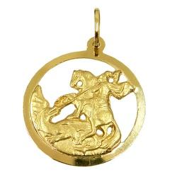 Medalha São Jorge Guerreiro em Ouro 18K - J0310016... - RDJ JÓIAS