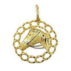 Pingente em Ouro 18K Cavalo - J06102923 - RDJ JÓIAS