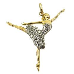 Bailarina em Ouro 18K com Zircônia - J12701104 - RDJ JÓIAS