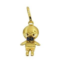 Pingente Menino em Ouro 18K com Safiras - J1280039 - RDJ JÓIAS