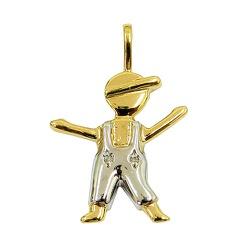 Pingente de Ouro com Brilhantes Menino - J07600207 - RDJ JÓIAS