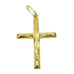Cruz com Cristo Ouro 18K médio - J03100601 - RDJ JÓIAS