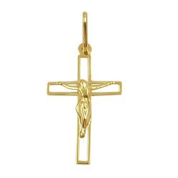 Pingente Crucifixo Ouro 18K Vazado - J16400056 - RDJ JÓIAS