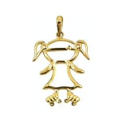 Pingente Menina de Patins em Ouro 18K - J12701117 - RDJ JÓIAS